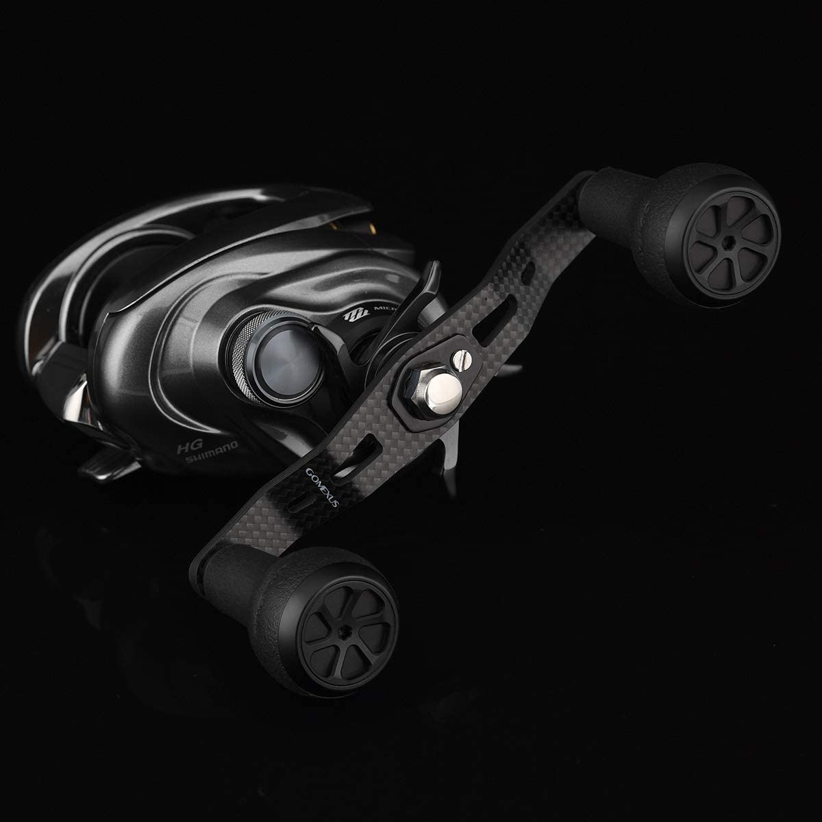 GOMEXUS Carbon Power Griff 8 x 5 mm kompatibel f/ür Shimano Tranx 300 400 Daiwa Tatula Coastal Lexa Abu Garcia Revo Series Lews Baitcaster Reel Ersatzteil Angelrolle Griff 105 mm