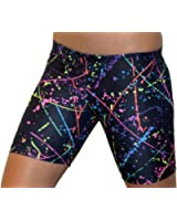 """GemGear Paint Splatter 6"""" Inseam Compression Shorts"""