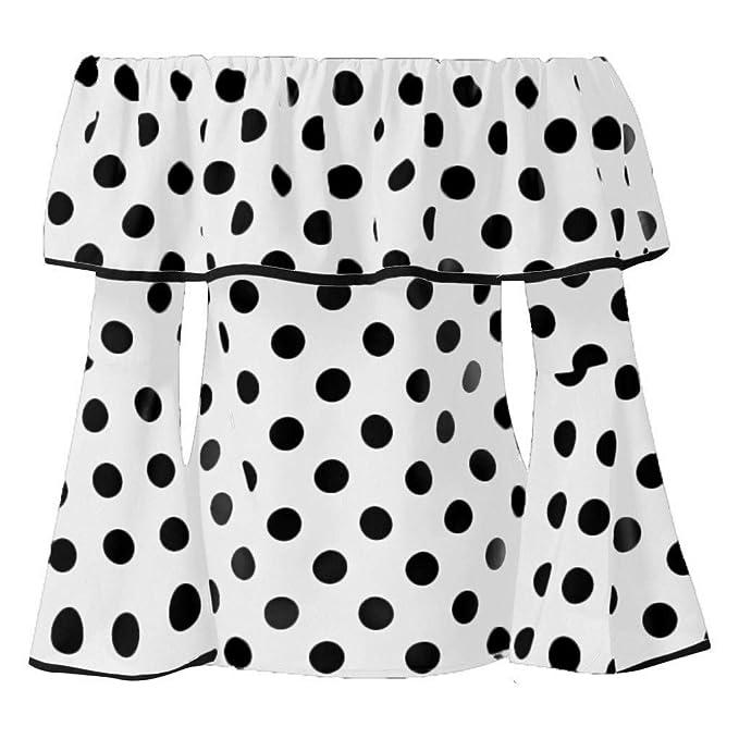 VEMOW Faldas Top Camiseta Mujeres Punto impresión Gasa Manga Corta ...