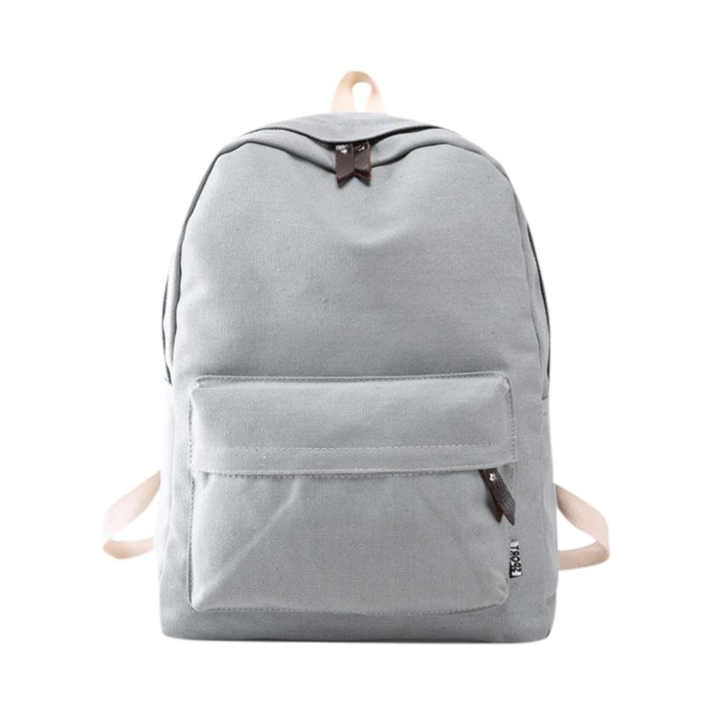 Mochila, Manadlian Bolso de mujer Mochila de viaje escolar Bolsos de hombro de lona para niñas (30cm(L)*40(H)*15cm(W), Gris): Amazon.es: Hogar