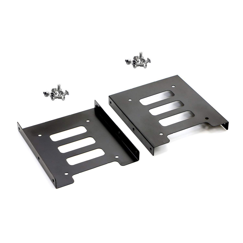 SAISN HDD/SSD Mounting Bracket, 2.5 to 3.5 Adapter, Hard Drive Holder (Single Drive, 2 Pack) by SAISN (Image #1)
