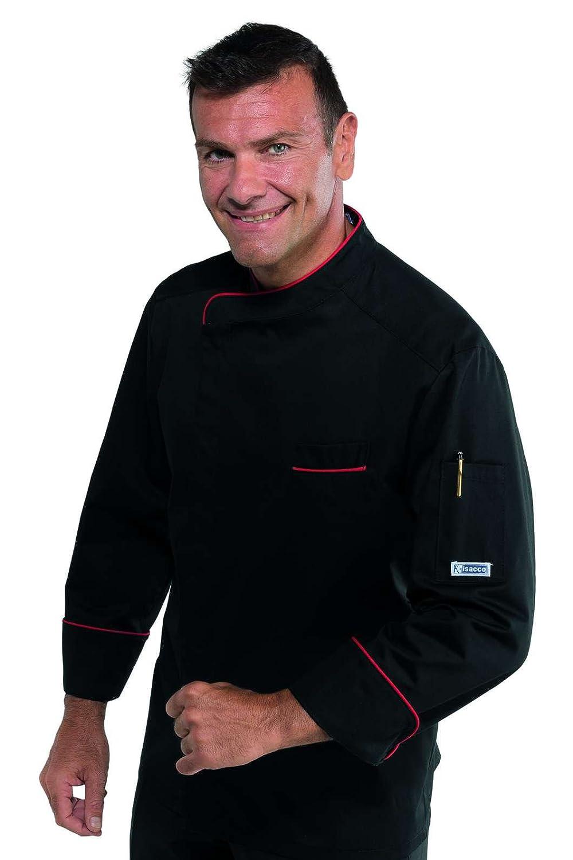 65/% Poliestere 35/% Cotone F.I.C. 3XL Isacco Giacca cuoco Bilbao Bianco+Italy Bianco+Italy Manica Lunga