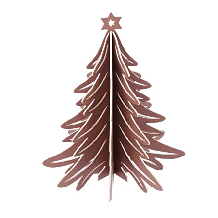Toyvian árbol de Navidad Mesa Centro de Mesa 3D Papel árbol de ...