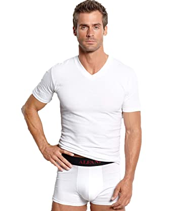 0af4295602 Alfani Men's 3-Pack Big And Tall V-Neck Undershirt at Amazon Men's Clothing  store:
