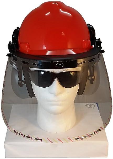 Amazon.com: MSA V-Gard - Kit de cascos duros con protector ...