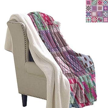 Amazon.com: Manta de franela para cama con diseño de ...
