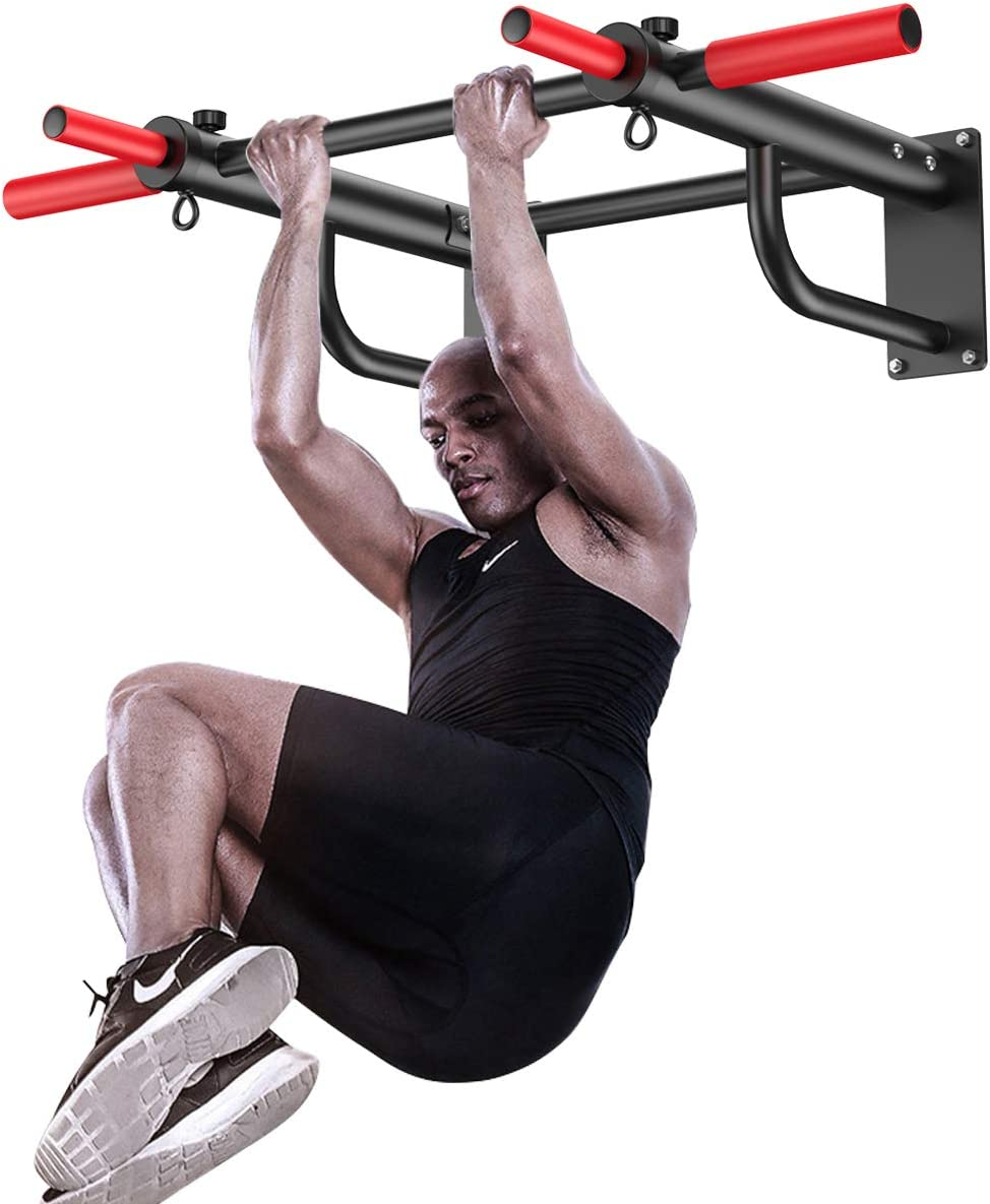 KFK Pull Up Bar Wall Mounted Strength Training Pull-Up Bars Exercise Bar Fitness Equipment : Sports & Outdoors