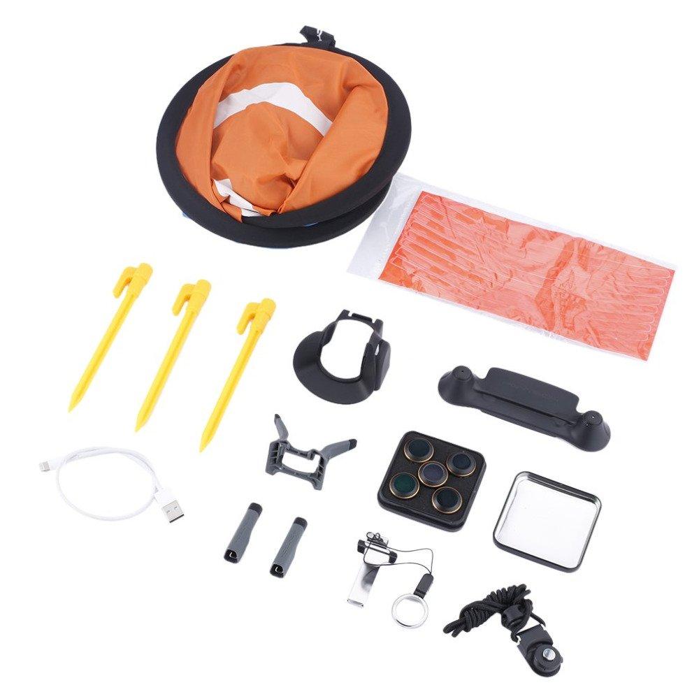 PGYTECH Landing Pad,Stick Protector,Lens Hood,Propeller Holder,Landinggear,Lens Filters,USB Cable For DJI Mavic Pro (7Kinds/Set)