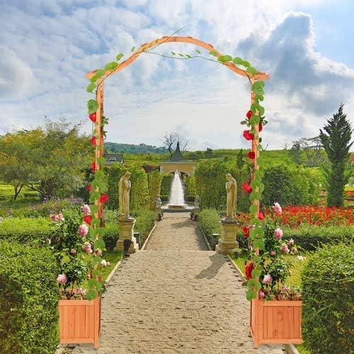 Relaxdays, Marrón Anaranjado, Arco Jardín con 2 Maceteros, Madera, 209 x 181 x 60 cm: Amazon.es: Jardín