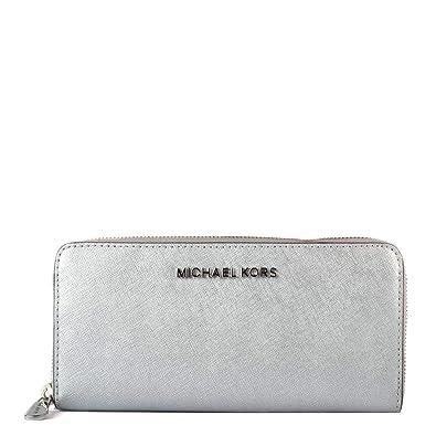 a2bca381d214 Michael Kors Money Pieces Flat Wallet - SILVER - 32F7MF6F2M-040: Handbags:  Amazon.com