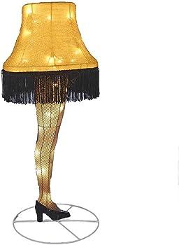 Kurt S. Adler Tinsel Leg Lamp Yard Decor