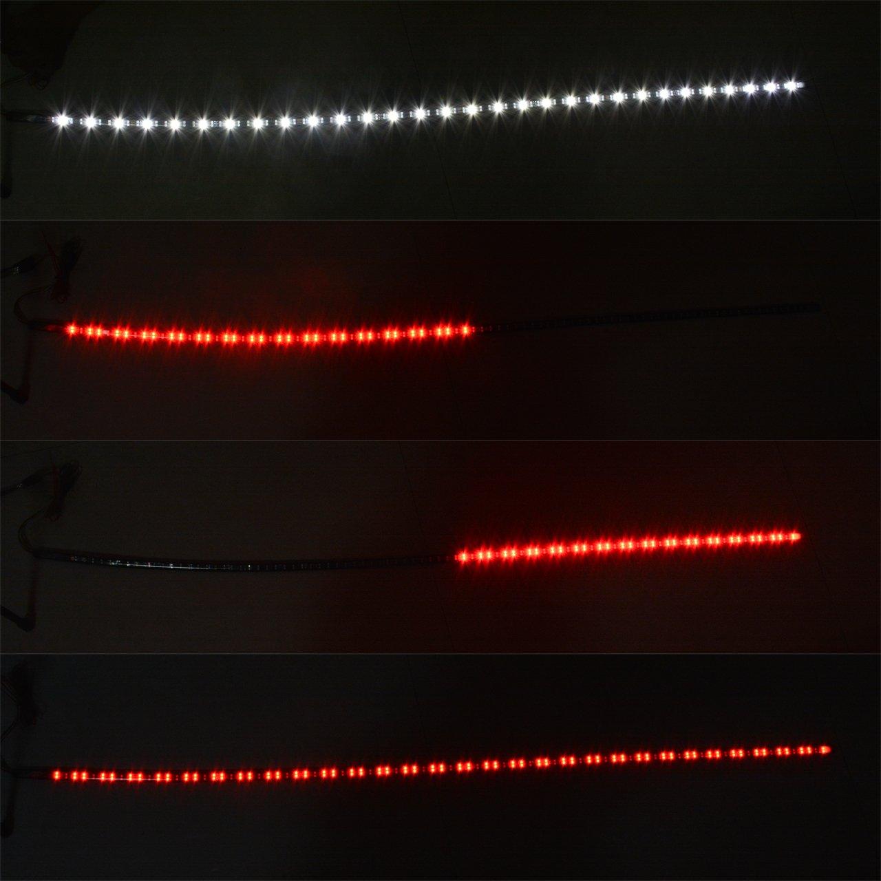 katur 119,4 cm LED Heckklappe Light Bar Rot/Weiß wetterfest starr ...