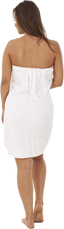 altamente assorbente per doccia spa bianco spiaggia Asciugamano da donna in morbida spugna S//M telo pareo in 100/% cotone sauna 100/% cotone palestra