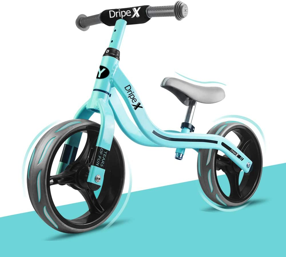 Cub Balance Bike, Dripex 12 Inch Lightweight No-Pedal Kids Balance Bike for Toddlers Ages 2-6 Years Old Girls and Boys Green