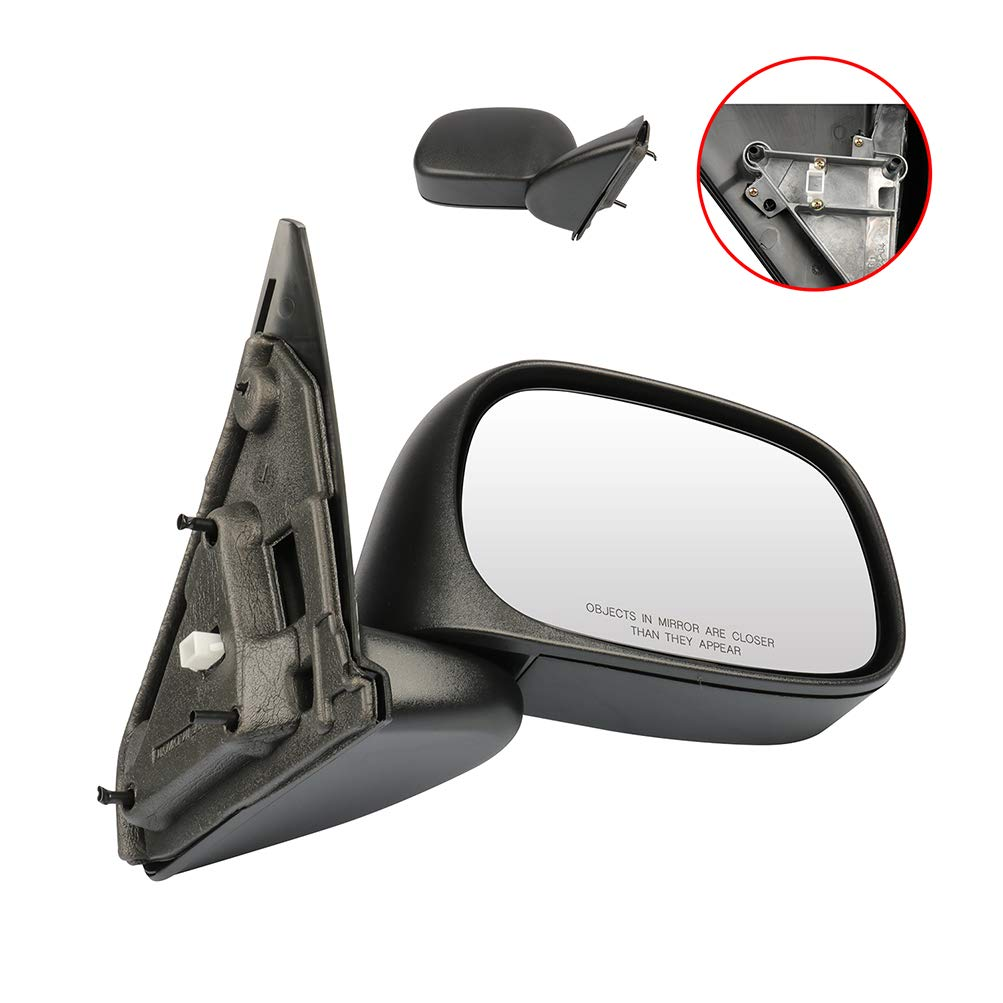 ECCPP Right Side Mirror Manual Adjustment Manual Folding Compatible with 2002-2008 Dodge Ram Pickup Truck 1500 2003-2009 Dodge Ram Pickup Truck 2500 3500