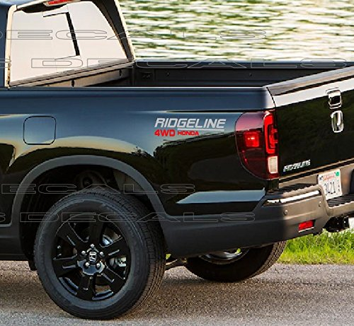 Ridgeline 4WD Honda Decals (Gray & RED) 14 INCH