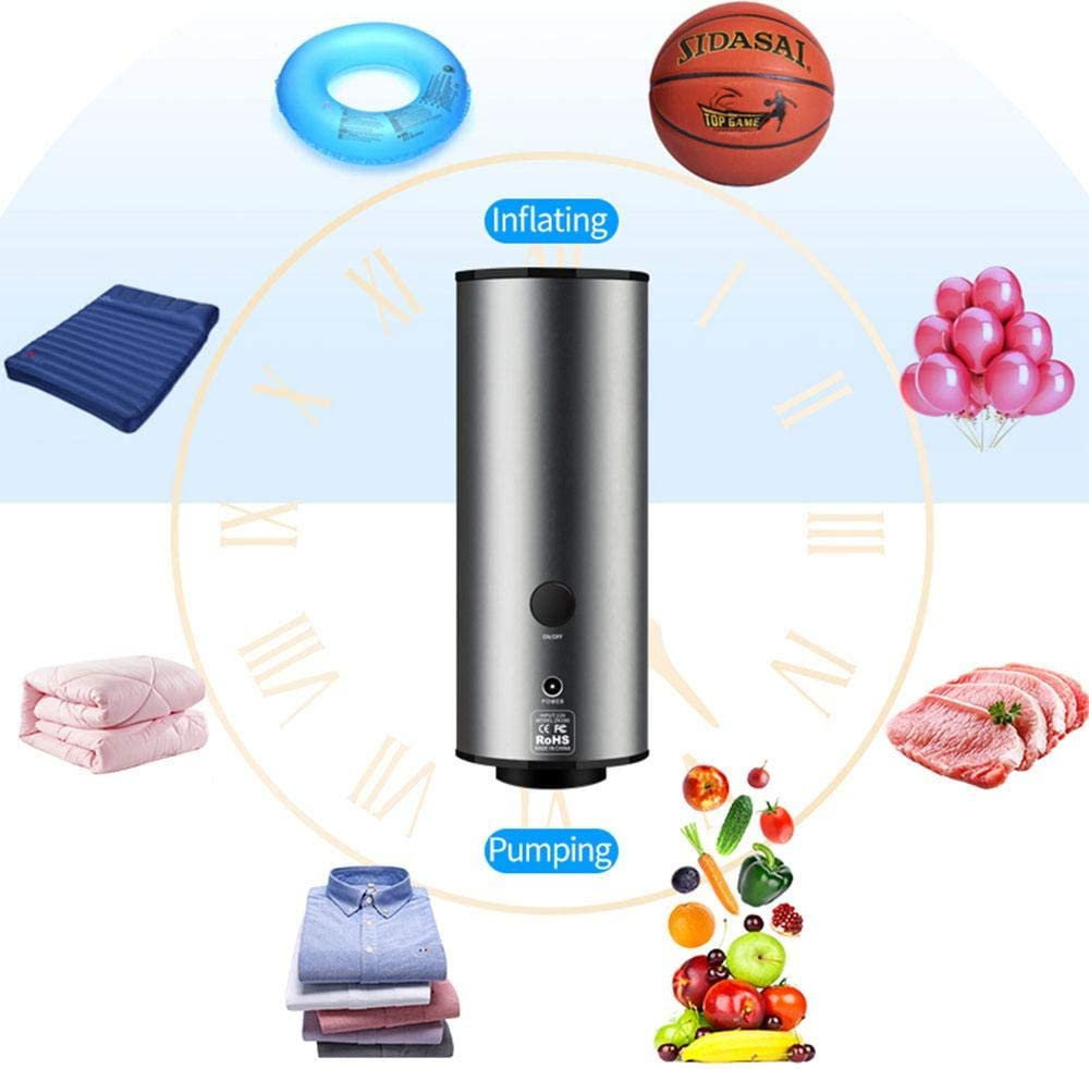Womdee Handheld Vacuum Sealer for Vacuum Storage Bags, 2019 Upgraded Pumpdown and Deflation Dual Use Mini Electric Pump to Keep Food Fresh, Space Saving for Home Travel NOT Include Bag