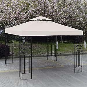 10u0027 X 10u0027 Gazebo Replacement Canopy Top Cover   Beige, Double Teir