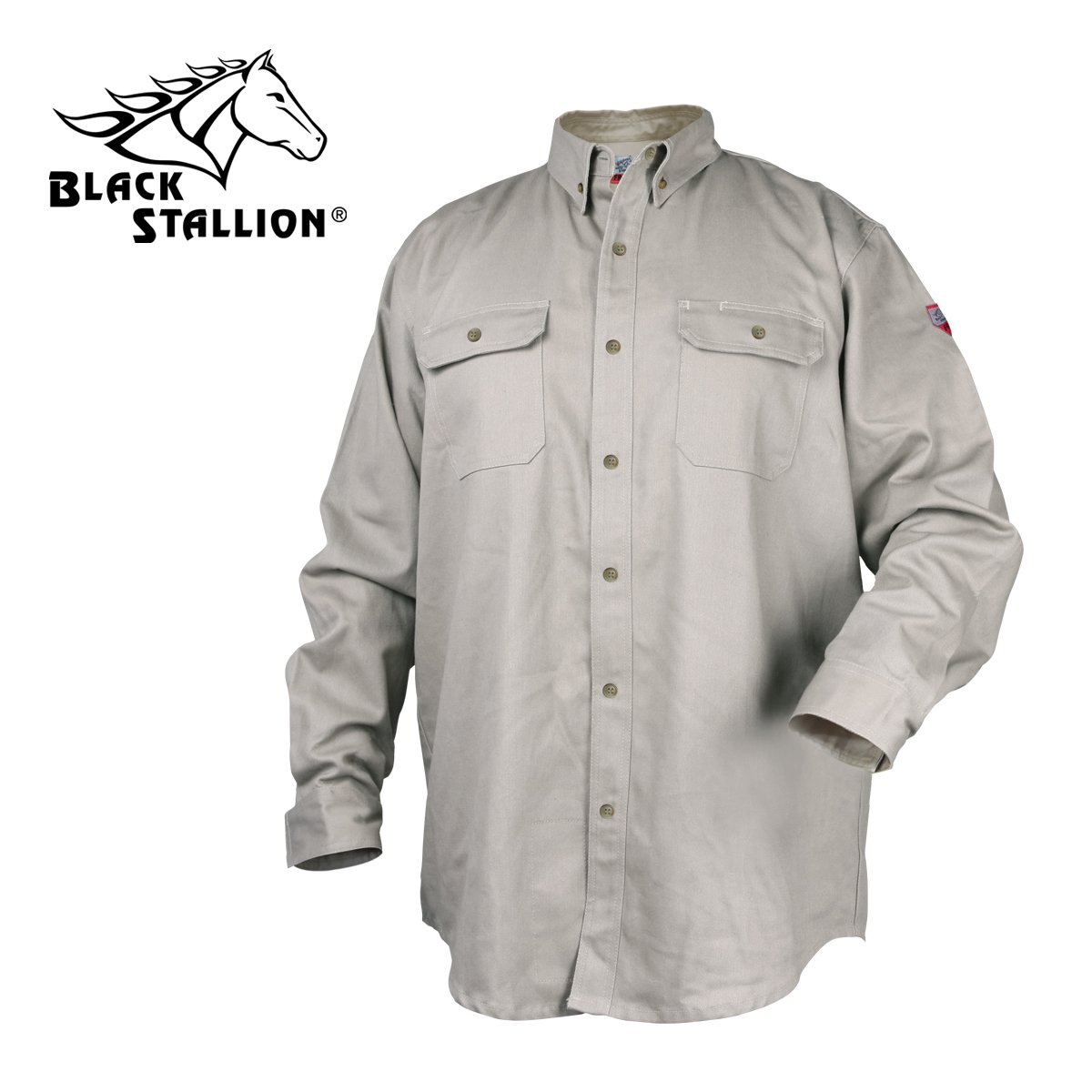 Black Stallion TruGuard 300 NFPA 2112 Flame-Resistant Cotton Work Shirt - LARGE