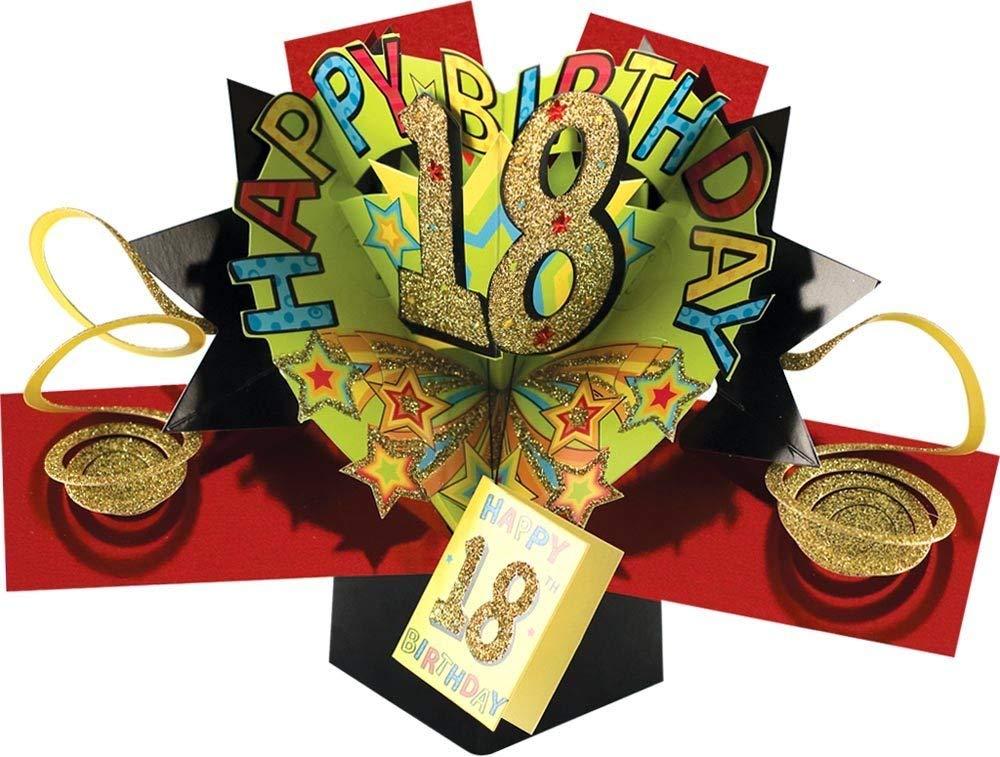 efsdhg Pop-up Tarjeta de felicitaci/ón para una 18a Tarjeta de cumplea/ños de decoraci/ón del hogar Huerta para Vacaciones en Familia