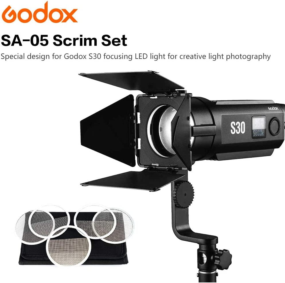 GODOX S30 Filtre de Couleur SA09-002 GOBO Set pour Godox S30 LED Focus Video Light SA09002