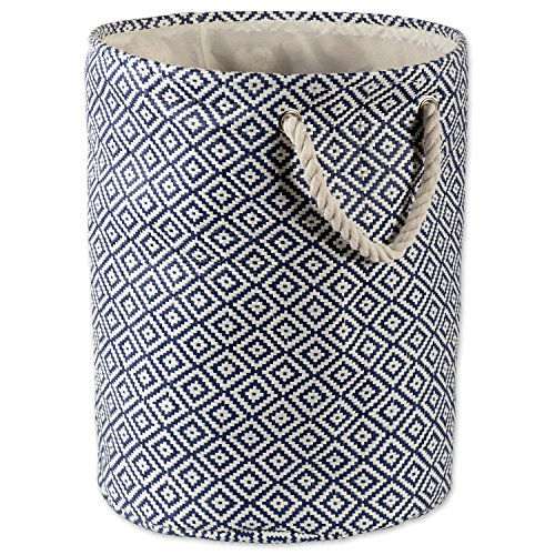 DII Woven Paper Basket or Bin, Collapsible & Convenient Home Organization Solution for Bedroom, Bathroom, Dorm or Laundry (Medium Round - 14x17