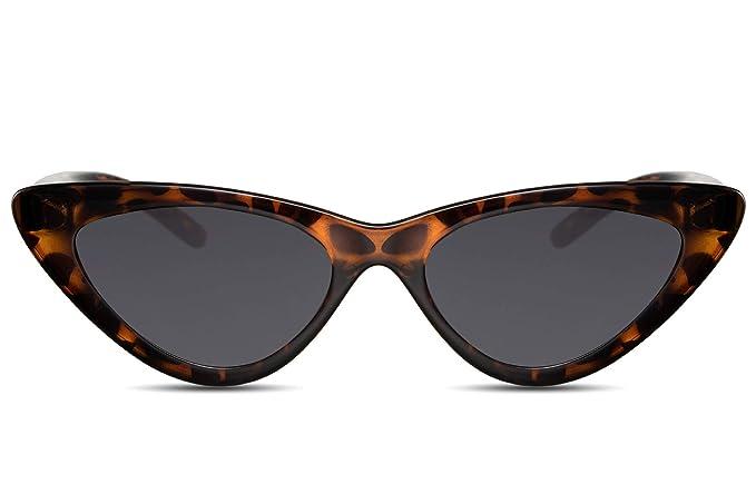 Cheapass Gafas de Sol Diseño Ojo de Gato Montura Moderna Leopardo Gafas Negras 100% Protección UV-400 Mujer: Amazon.es: Ropa y accesorios