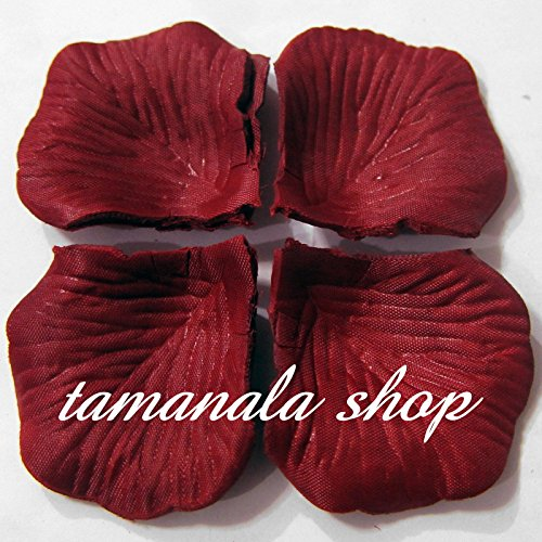 Huayao 1000PCS Fabric Silk Rose Petal Artificial Flower For Wedding Party Flower Decoration (Wine Red)