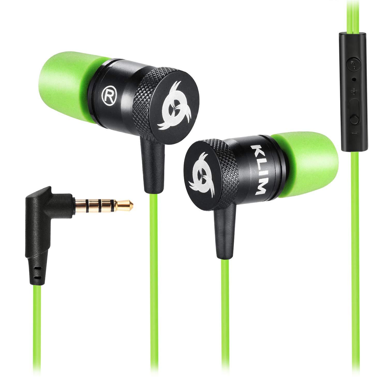 Lunga durata Innovativi: con cuscinetti in schiuma Memory Verde KLIM Fusion Auricolari per audio di alta qualit/à Garanzia 5 anni cuffiette