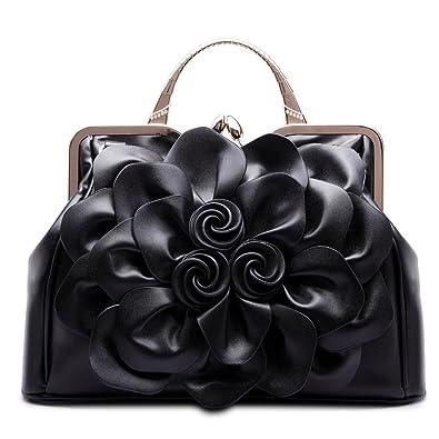 4df59d99b8 SUNROLAN Women s Evening Clutches Handbags Formal Party Wallets Wedding  Purses Wristlets Ethnic Totes Satchel (Black
