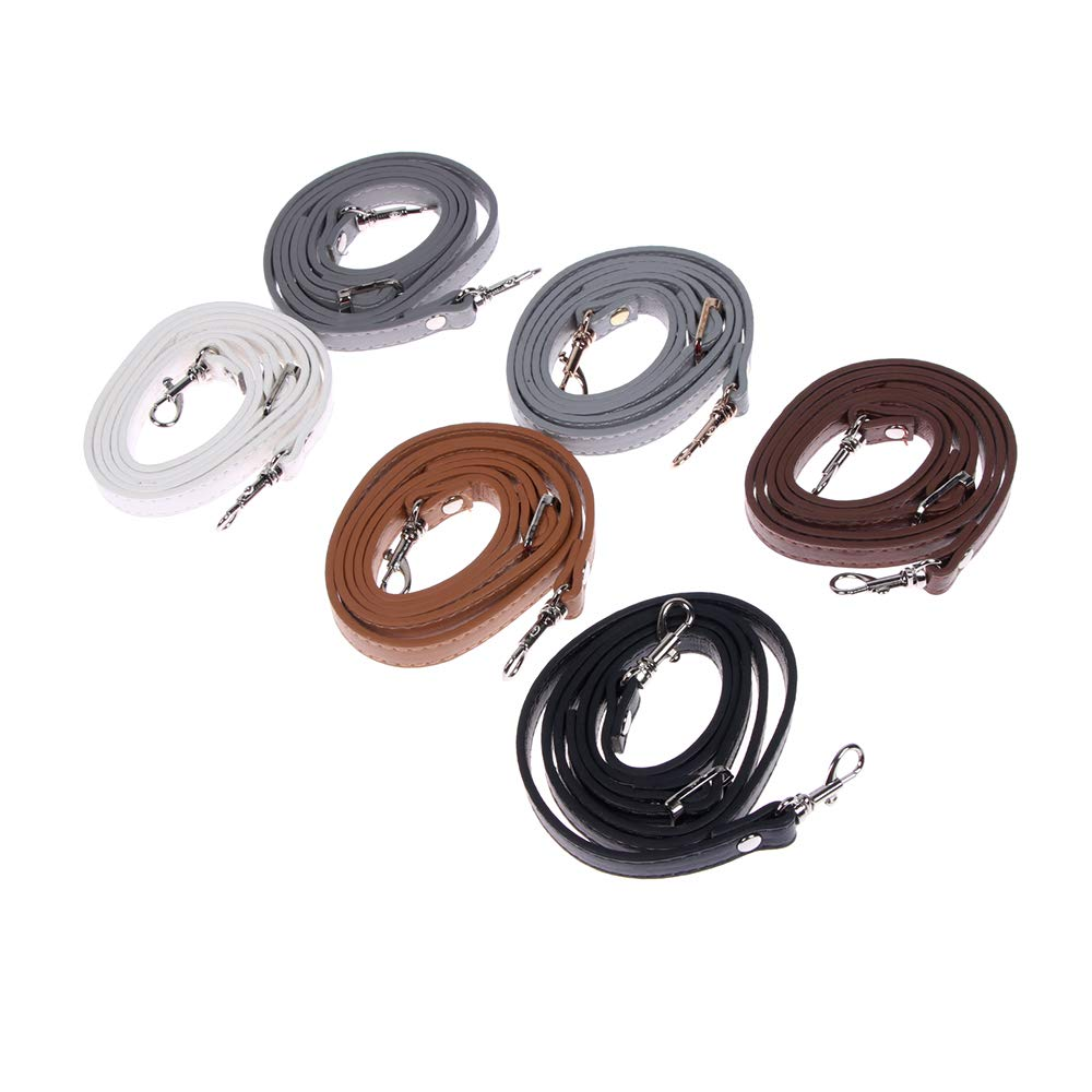 Black RAYNAG Adjustable Purse Strap Replacement Leather Handbag Shoulder Strap Replacement with Gold Metal Swivel Hooks