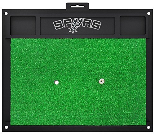 Fanmats NBA San Antonio Spurs Team Logo 20 X 17 Inch Golf Hitting Mat Green by New Fanmats