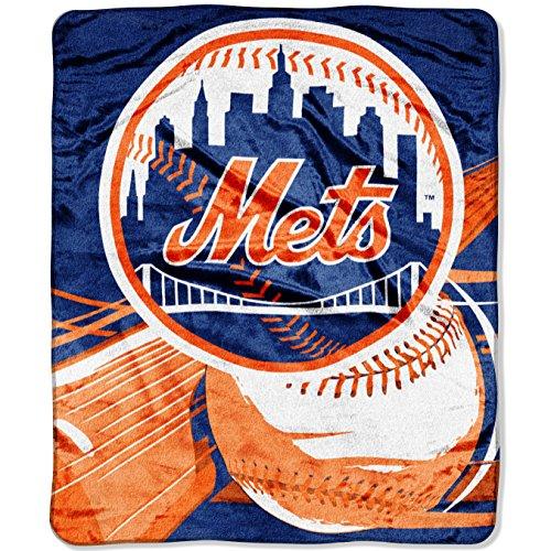 Officially Licensed MLB Big Stick Raschel Throw Blanket, Bedding, Soft & Cozy, Washable, 50
