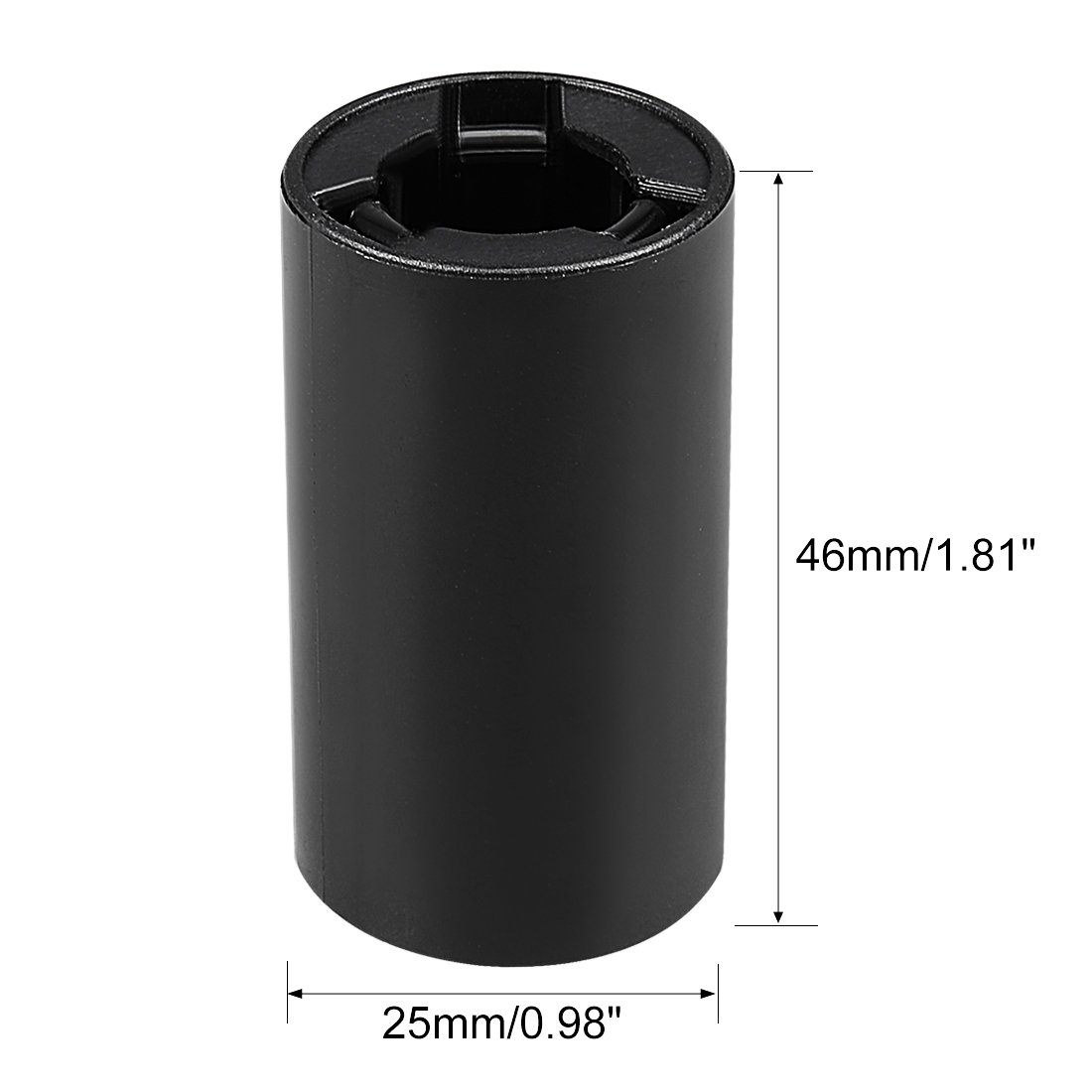 uxcell 1 pcs AAA to Size AA Battery Adapters Converter Cases AA-Adapter Clear