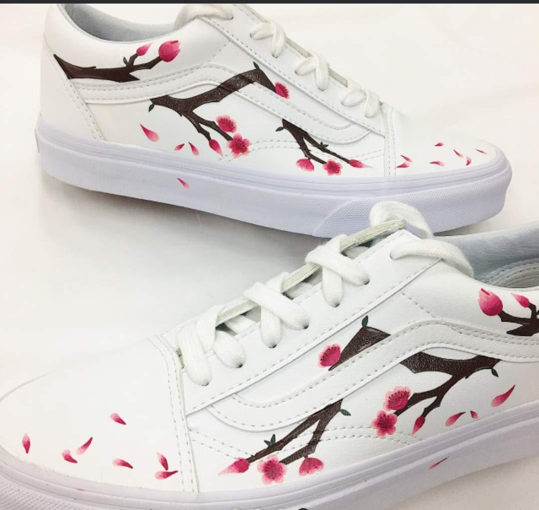 vans flower custom shoes by 95doc