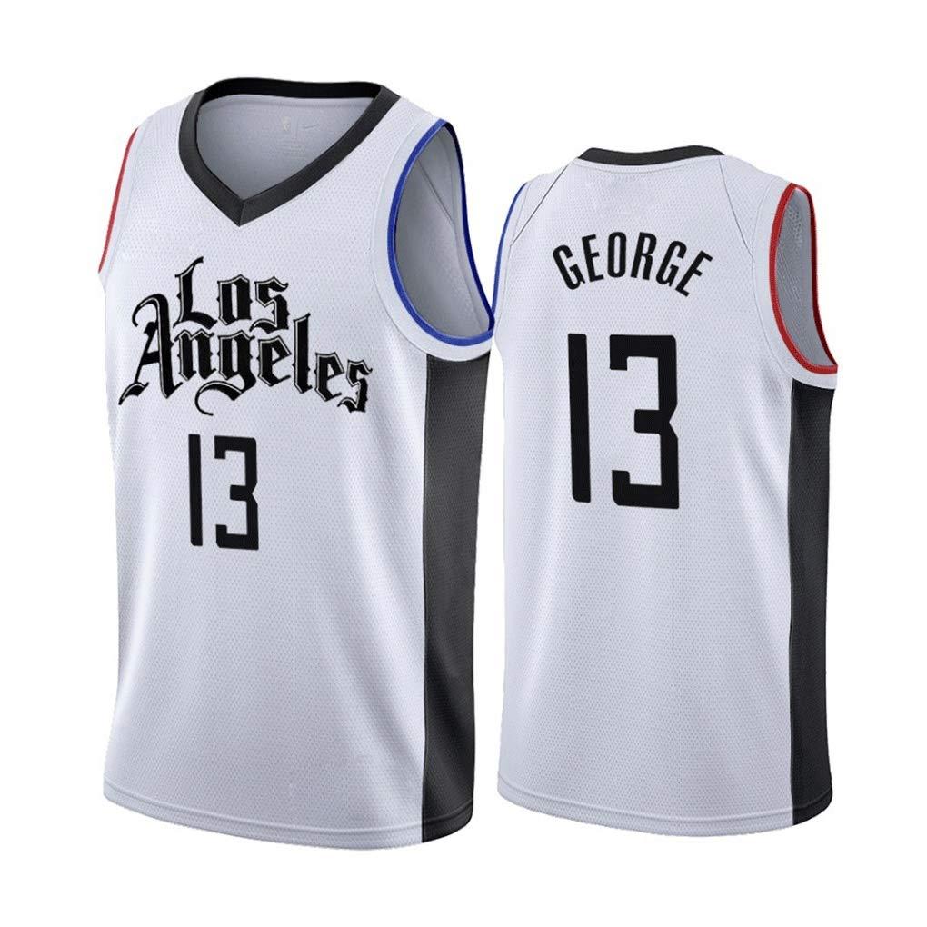 City Edition Mens Basketball Jerseys Paul George #13 Los Angeles Clippers New Fabric Unisex Sleeveless T-Shirt Basketball Uniform Swingman Suit