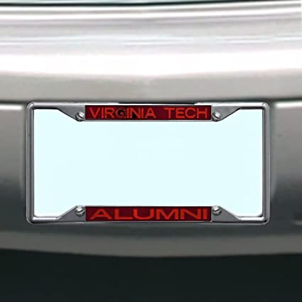Rico Industries NCAA Virginia Tech Hokies Team Colored Chrome License Plate Frame Maroon