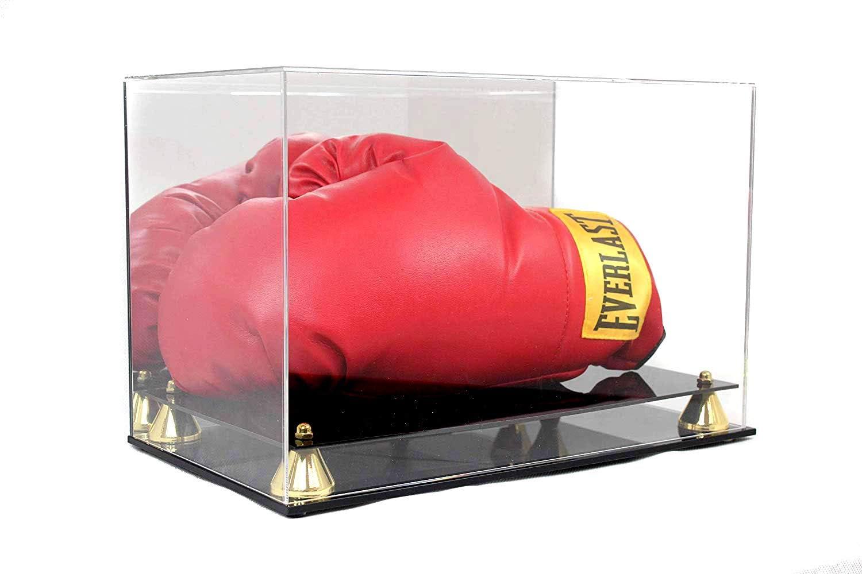 ボクシンググローブ ディスプレイケース ホルダー ショーケース スタンド付き 手袋 UV保護 エレガント ライザースタンド (片手、横向き)