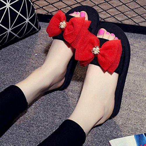 Sandales Plates CHENGXIAOXUAN Décontractées Semelles Plateforme Lâches de Sandales pour Chaussures Mode Sandales Romaines Grande Semelles Taille Femmes Red Plage Antidérapantes Intérieures zdcdrPwqH
