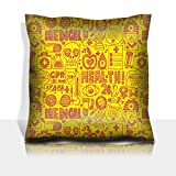 Luxlady Throw Pillowcase Polyester Satin Comfortable Decorative Soft Pillow Covers Protector sofa 16x16, 1 pack IMAGE ID: 31837332 seamless doodle medical pattern