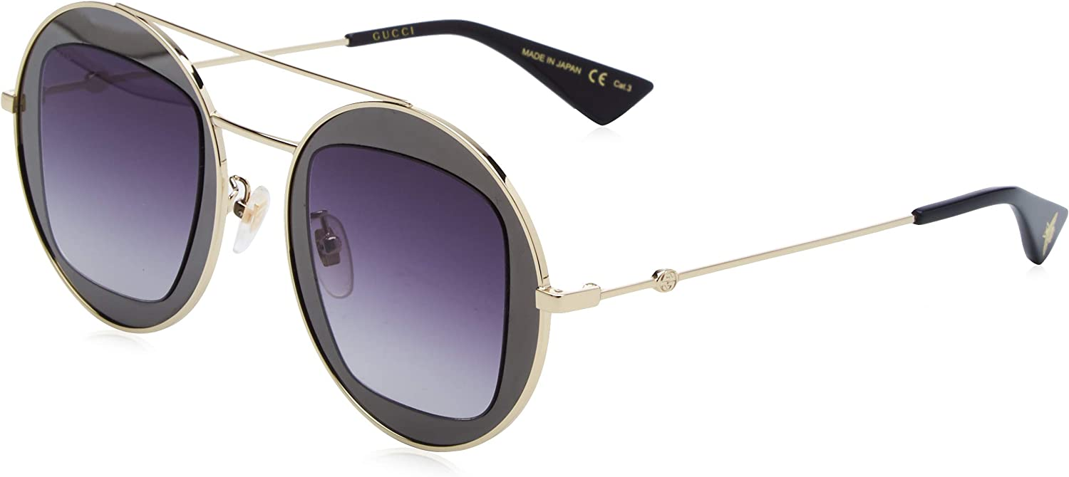 Gucci GG0105S Shiny/Dark/Ruthenium/Shiny/Endura/Gold One Size
