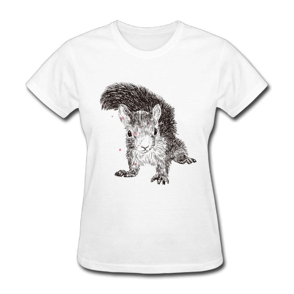 53f9854d8ccc Amazon.com: Peace Squirrel Women Round Neck T-Shirts Casual Print Short  Sleeve Tops: Clothing