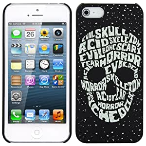 Skque?Relievo Noctilucent Skull Hard Back Case Cover for Apple iPhone 5/5S, Light Green