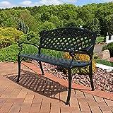 Sunnydaze Outdoor Patio Bench - Black Checkered