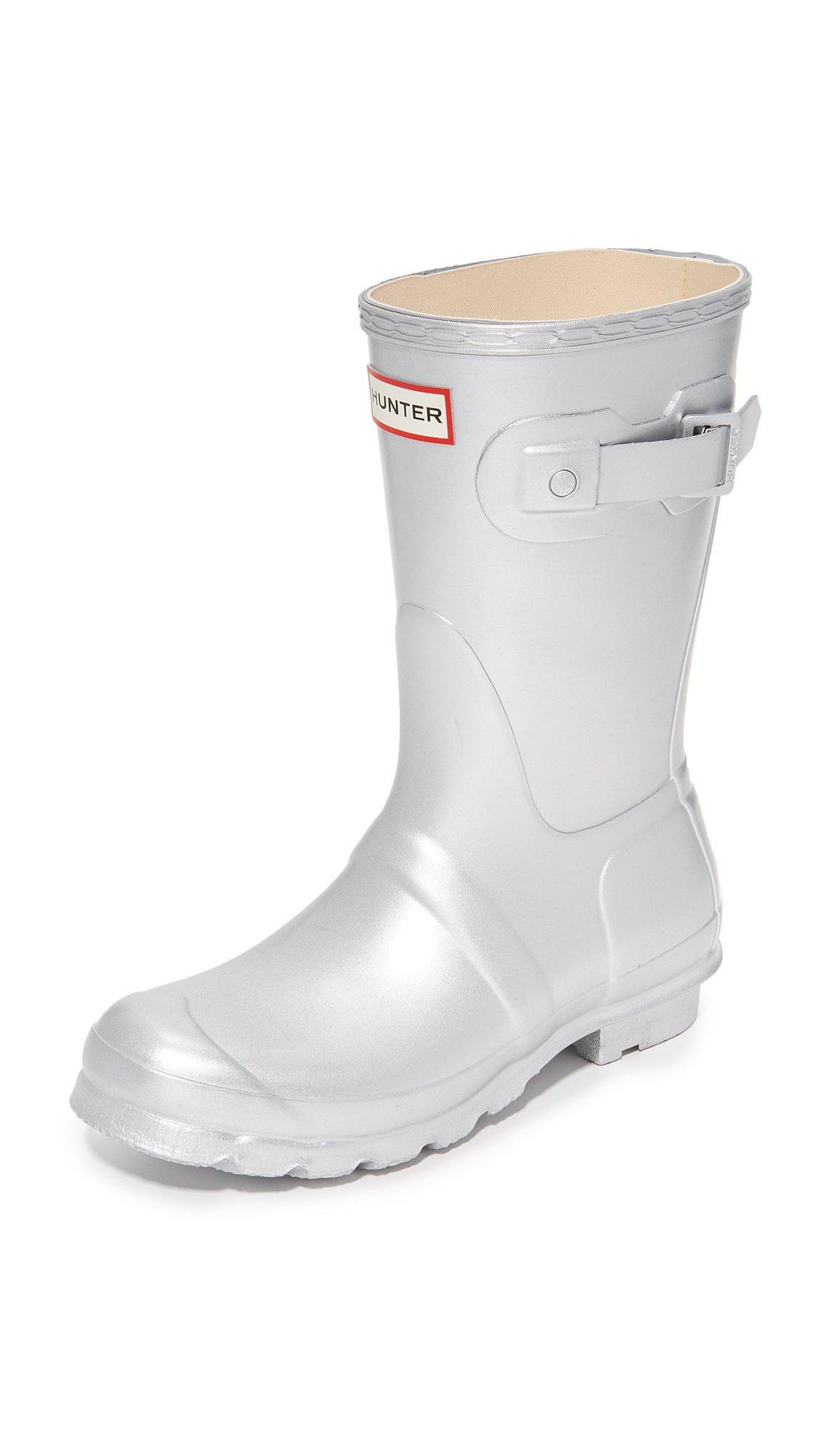 Hunter Boots Women's Original Short Boots, Silver, 9 B(M) US