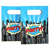 Ginger Ray Pop Art Superhero Party Kids Loot Bags (8 Pack), Mixed