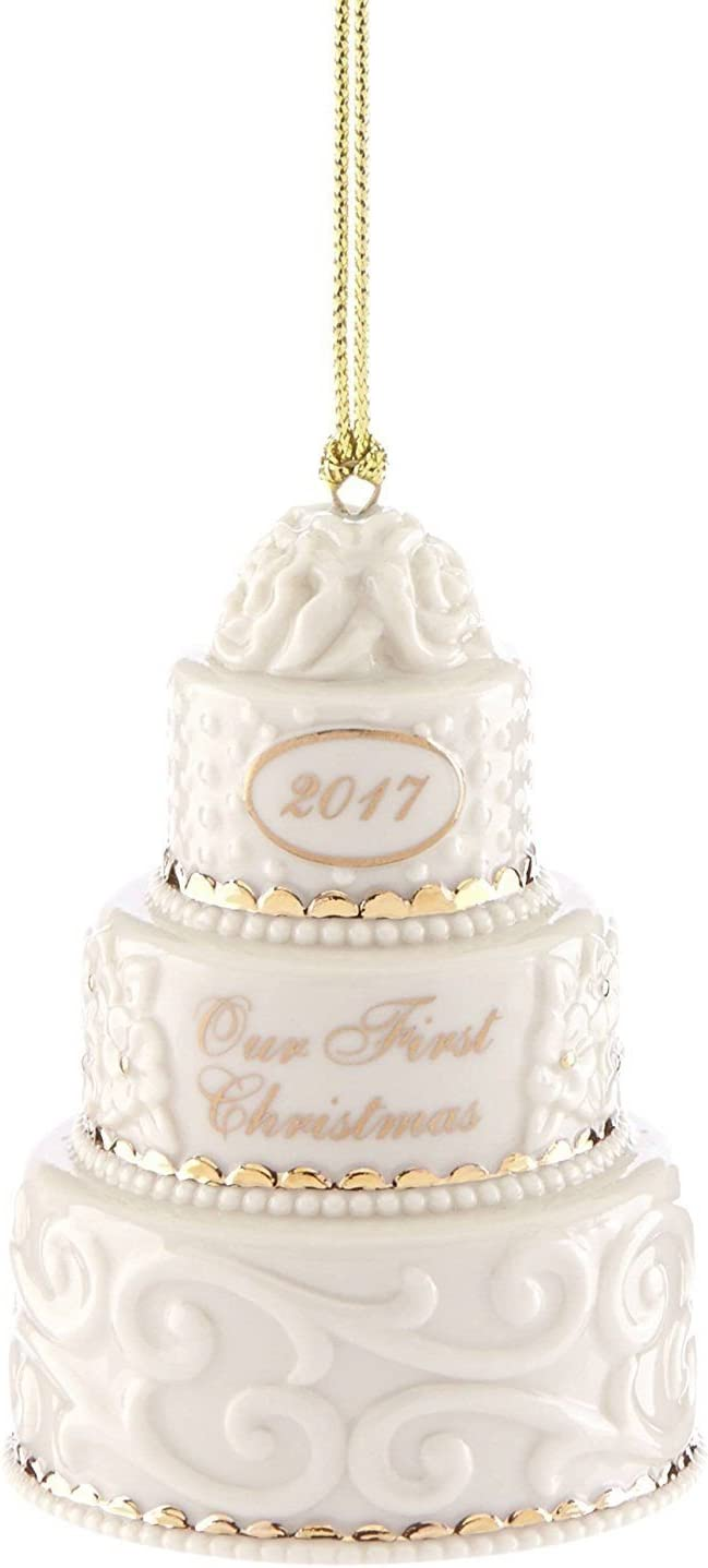 Lenox 2017 Wedding Cake Ornament Our 1st First Christmas Together Limited Edition Gift