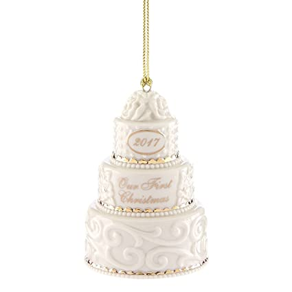 Lenox 2017 Wedding Cake Ornament Our 1st First Christmas Together Limited  Edition Gift - Amazon.com: Lenox 2017 Wedding Cake Ornament Our 1st First Christmas