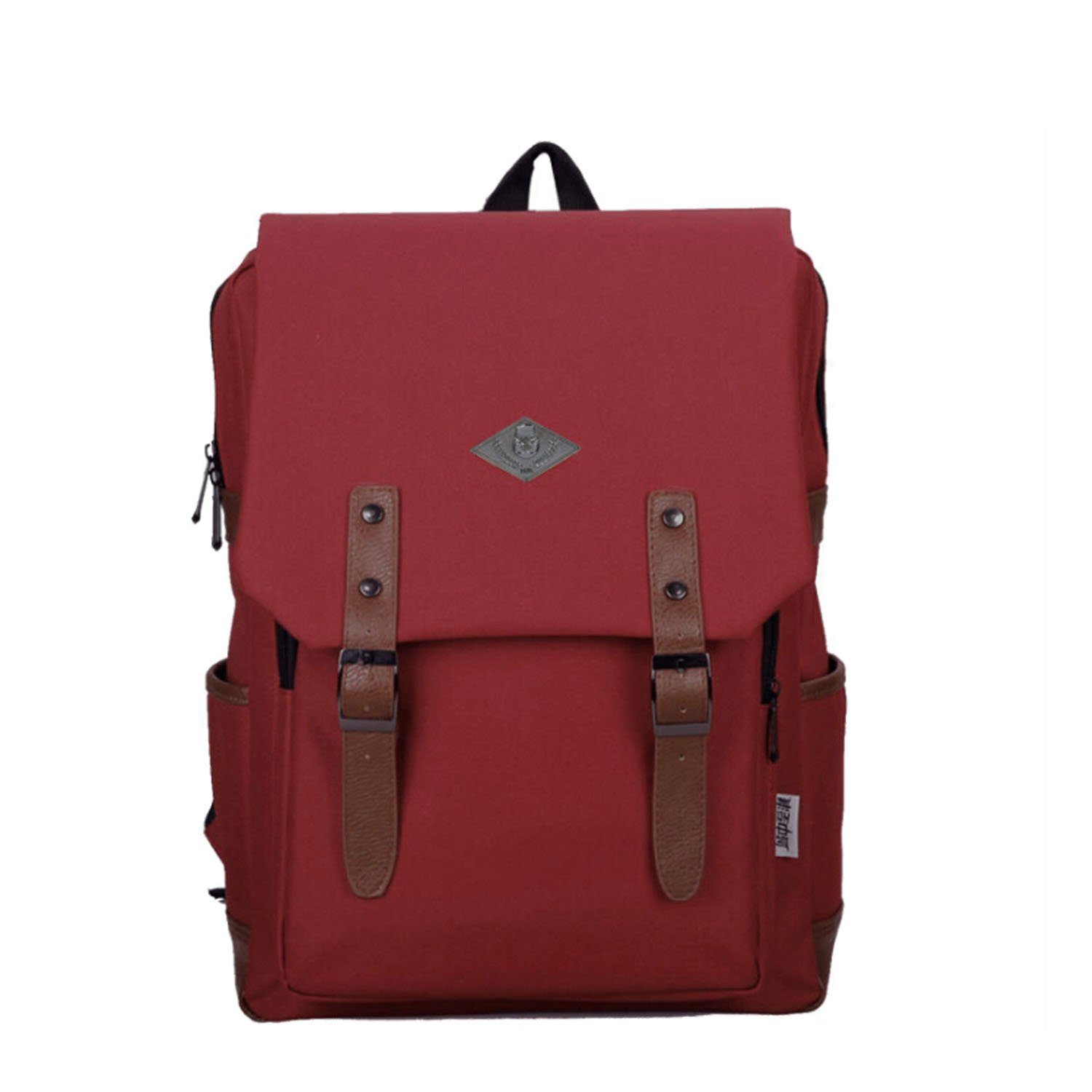Bao Core BXT Fashionable Recreation British Style Durable Canvas Ladle Traveling Laptop School Bag Backpack Red