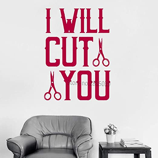 Ajcwhml Divertido Barber Shop Cotizaciones de Vinilo Tatuajes de ...